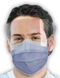 Ochranné obličejové masky a štíty Praha  - pro ochranu zdravotníků před infekcemi - pomůcky Crosstex