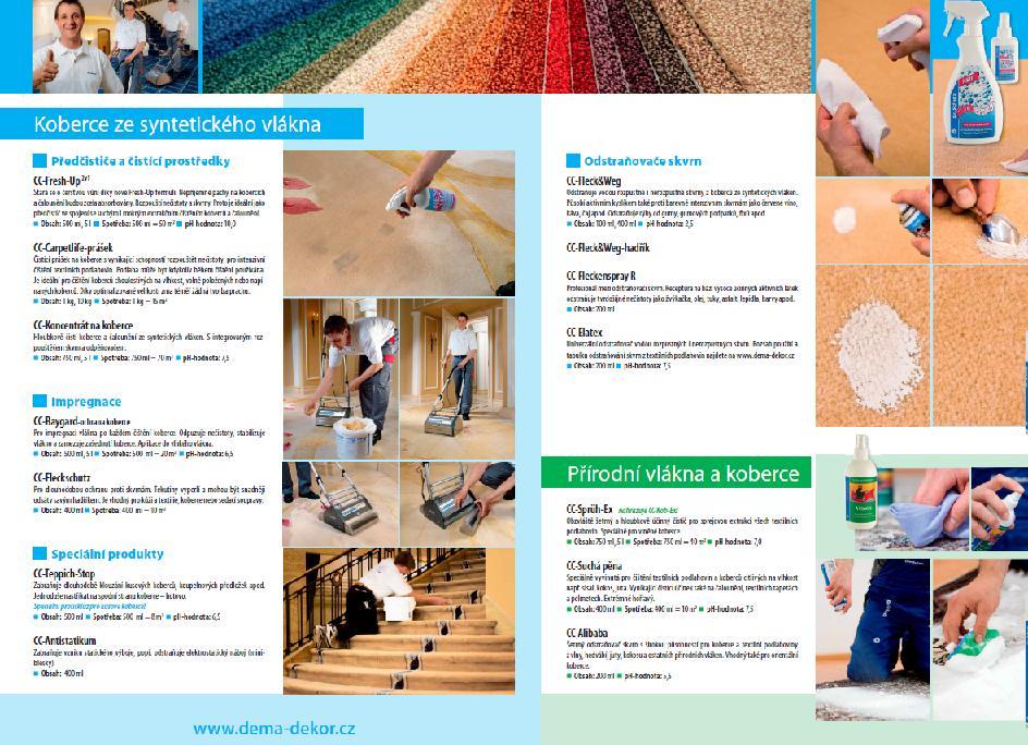 Produkty pro hloubkové čištění koberců, odstraňováním skvrn