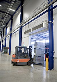 Vzduchové clony do priemyselných prevádzok a do vstupov - dverné a priemyselné clony