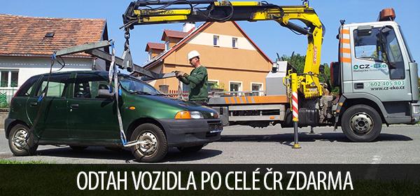Ekologická likvidace vozů, autovraků, odhlášení vozidla, protokol