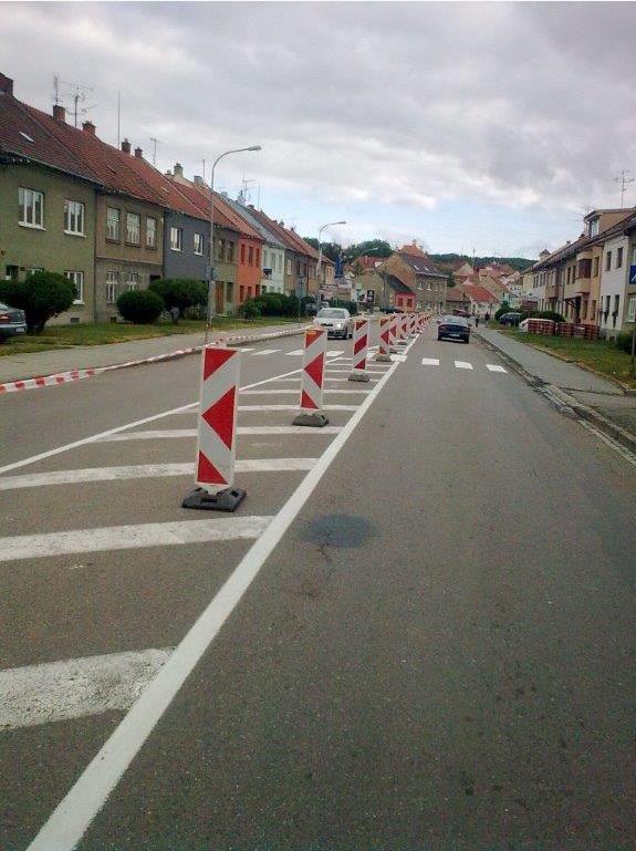 Dopravní značení realizace Olomouc