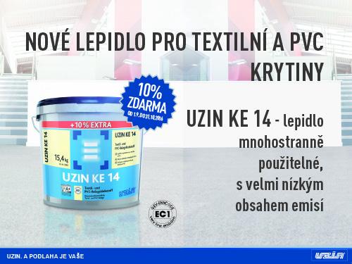 Lepidlo UZIN KE 14 pro textilní a PVC krytiny prodej Praha -   10% lepidla navíc zdarma