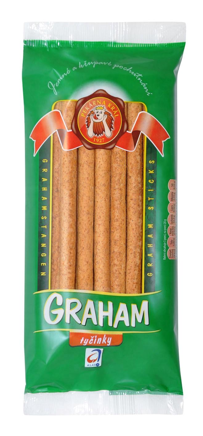 Celozrnné a kvalitní tyčinky Graham a Grissini - výroba podle tradiční receptury a prodej