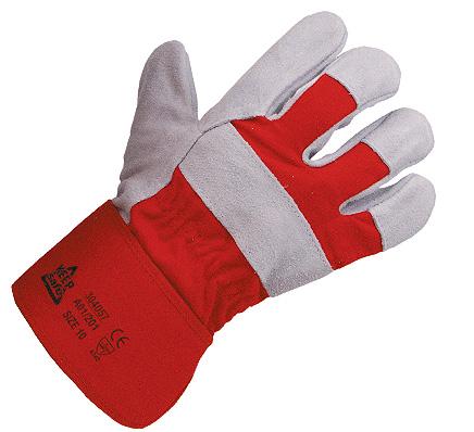 Ochranné pracovní rukavice - neprořezné, celokožené, PVC, Praha