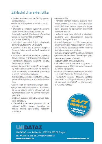 řešení pro zajištění elektronické evidence tržeb, UNIDATAZ