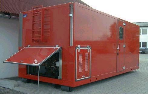 Dieselgenerátory, diesel agregát, záložní zdroj výroby elektřiny.