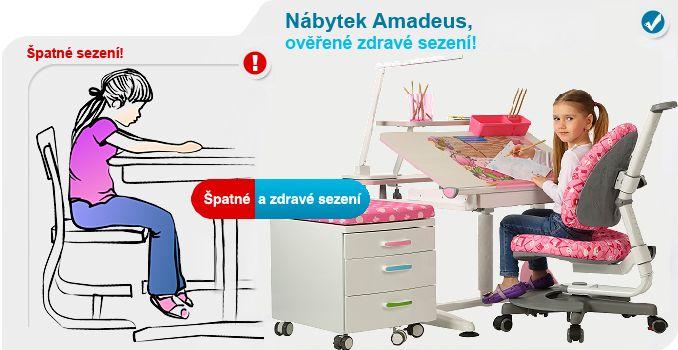 Dobré sezení, jak by děti měly správně sedět – zdravotní židle a stoly Amadeus pro děti