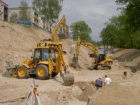 Těžební práce, zemní práce, násypová tělesa, odkopávky