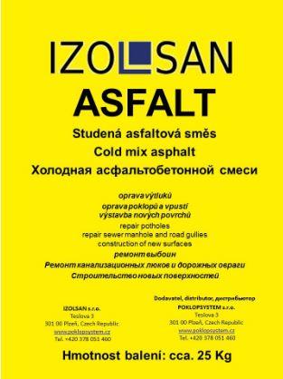 Studené asfaltové směsi IZOLSAN ASFALT