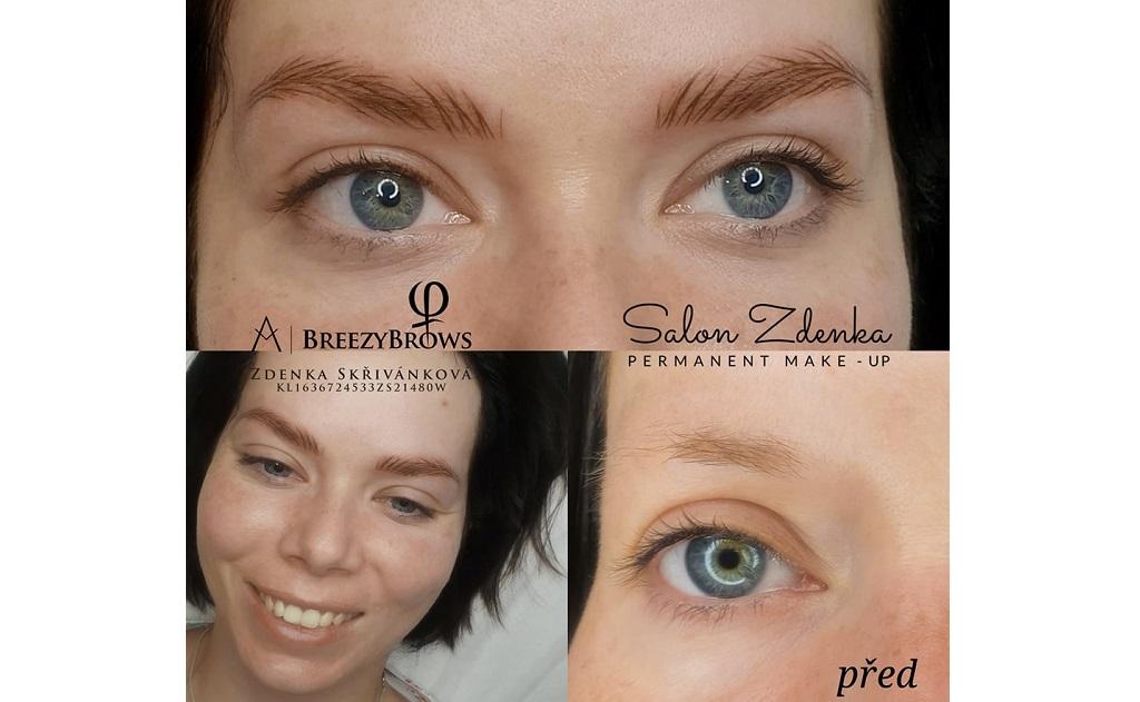 Permanentní make-up - vláskování obočí, oční linky, rty