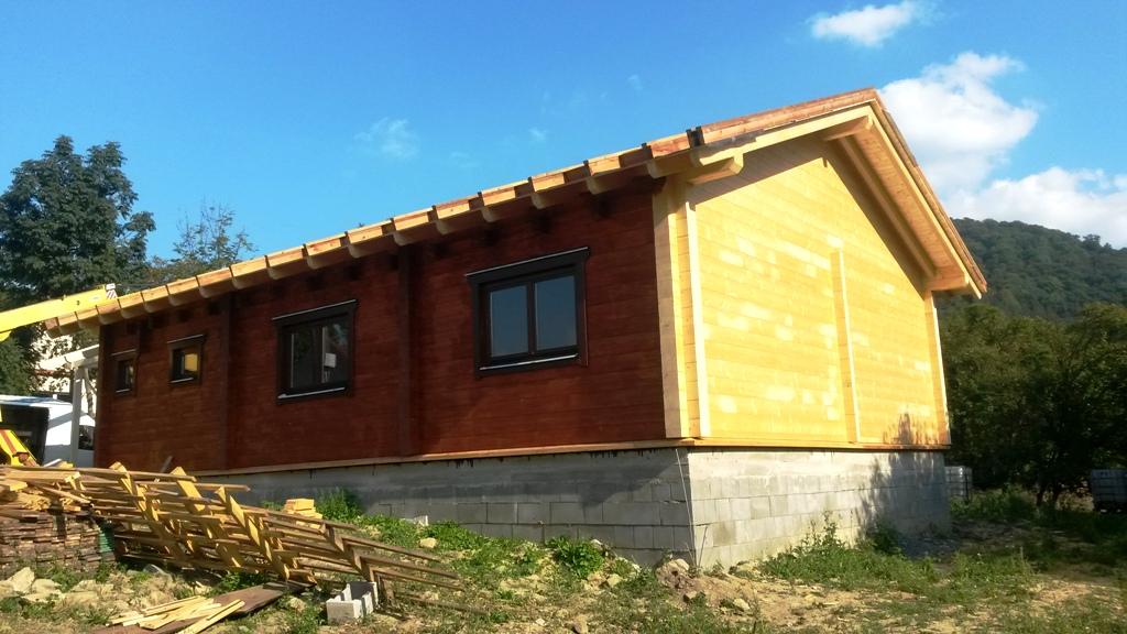 Dřevostavby na klíč - výstavba přízemního dřevěného domu Chvalčov