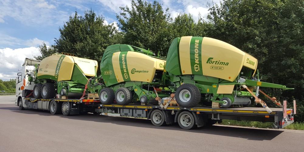 přeprava zemědělské techniky