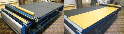 Plošné deskové materiály se samolepící vrstvou - samolepka, povrchová laminace