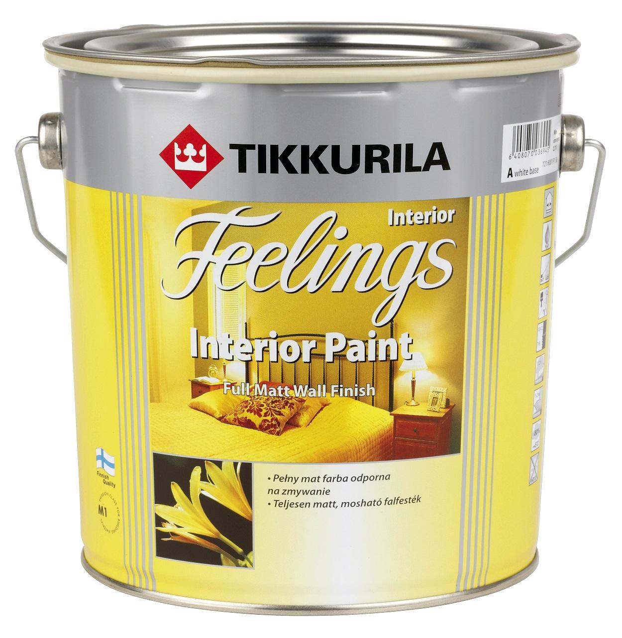 Dekorativní, otěruvzdorné i omyvatelné barvy Tikkurila do interiéru a malířské nářadí Anza