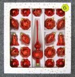 Ruční výroba skleněné vánoční ozdoby, foukané malované sklo