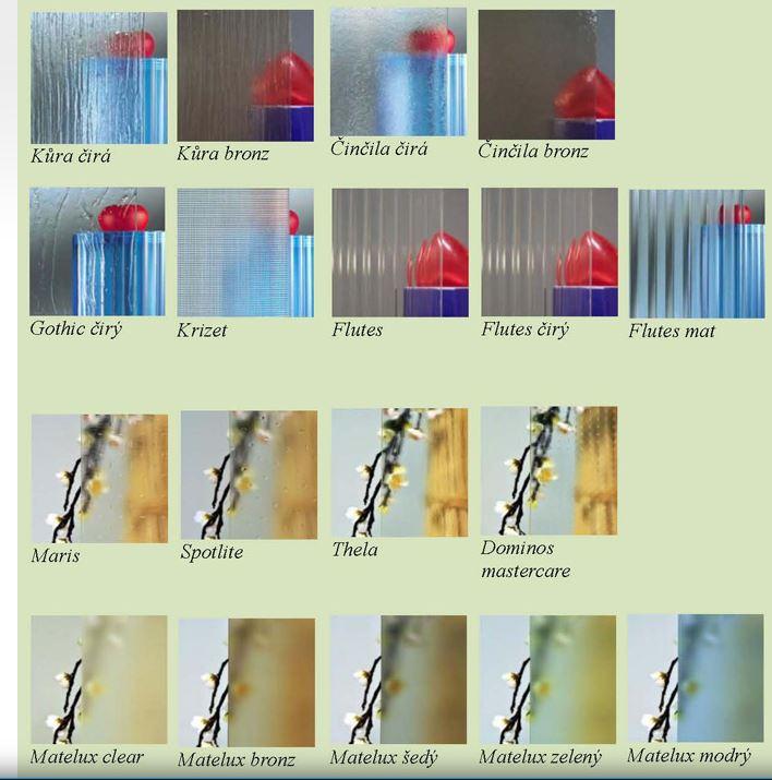 sklo - výpně do dveří na zakázku Praha 4
