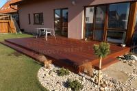 Dřevěná terasa z tuzemského dřeva, z exotického dřeva, borovice, modřín