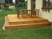 Dřevěné terasy, výroba, pokládka