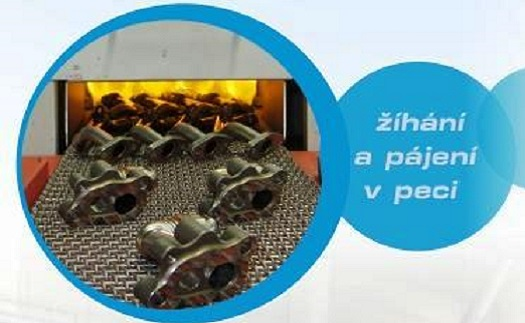 Žíhání a pájení nerezového materiálu v lineární peci