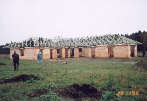 Výroba montáž dřevěné příhradové konstrukce Ústí nad Orlicí