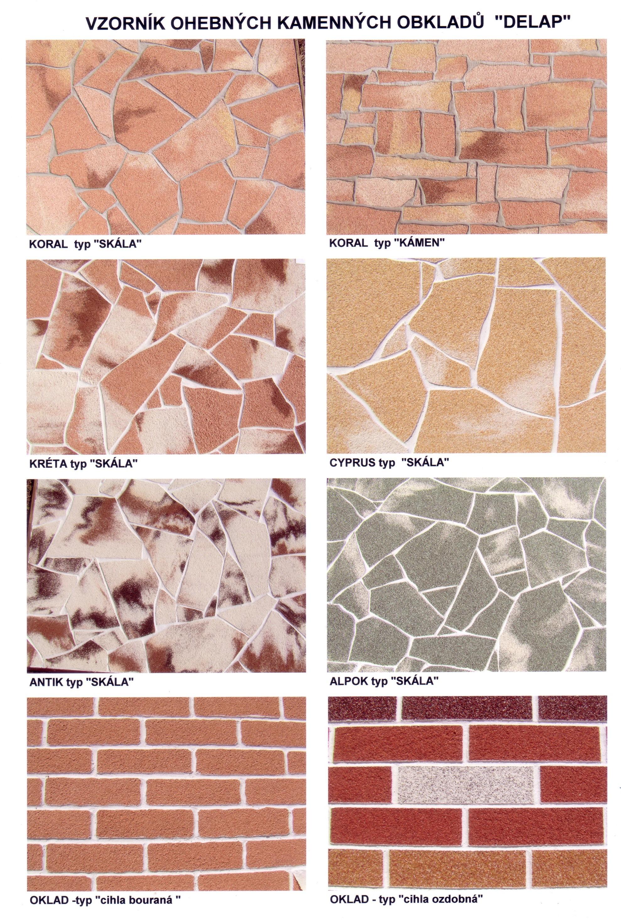 Ohebné kamenné nebo cihelné obklady budov