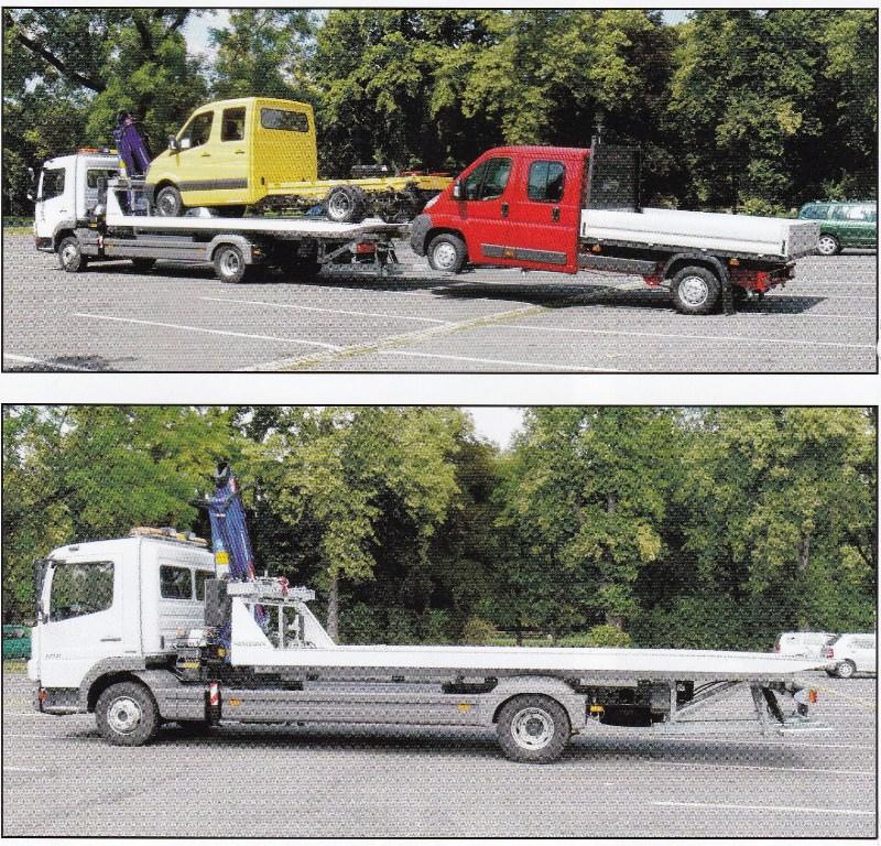 Speciální odtahová nástavba pro převoz jednoho či více vozidel