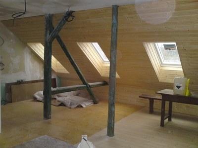 Stavba, rekonstrukce a zateplení podkroví ve Vimperku