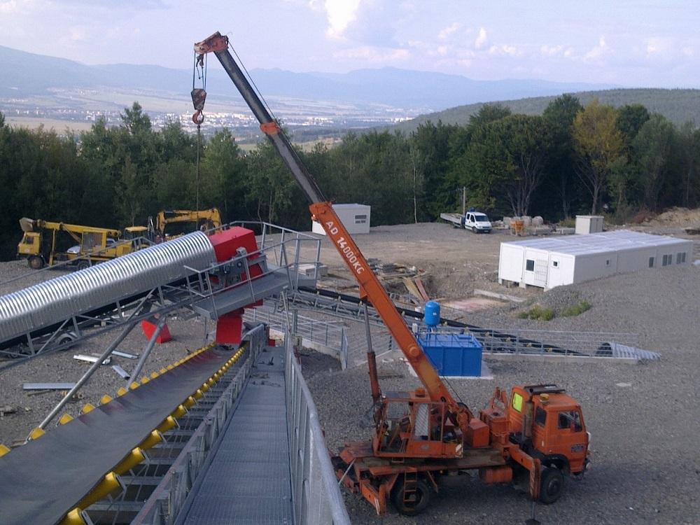 Práce autojeřábem s obsluhou-autojeřáby Tatra, Liaz