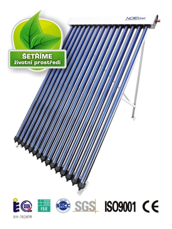 Solární panely kolektorové pro ohřev vody či vytápění domácnosti - energie ze slunce
