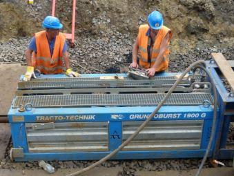 Protlaky Teplice - rekonstrukce starších plynových a vodovodních potrubí