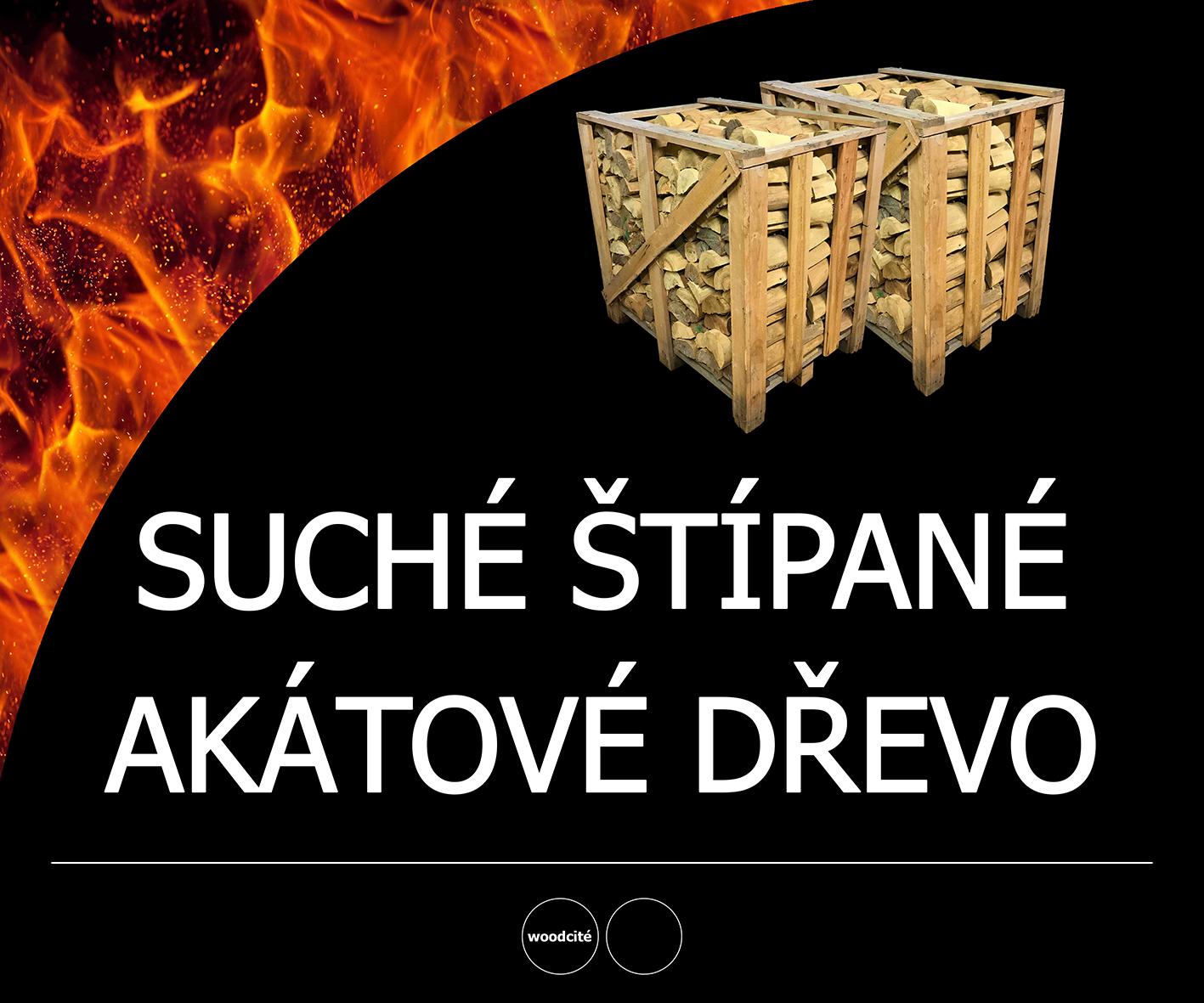 štípané akátové dřevo Uherské Hradiště, Zlín