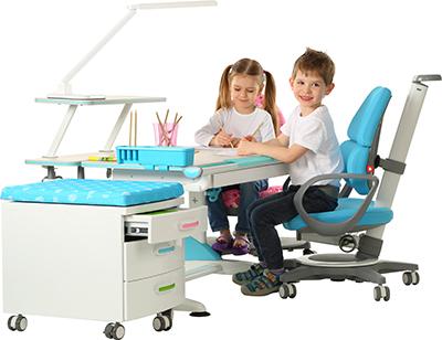 Školní stůl a židle - stavitelné, rostoucí
