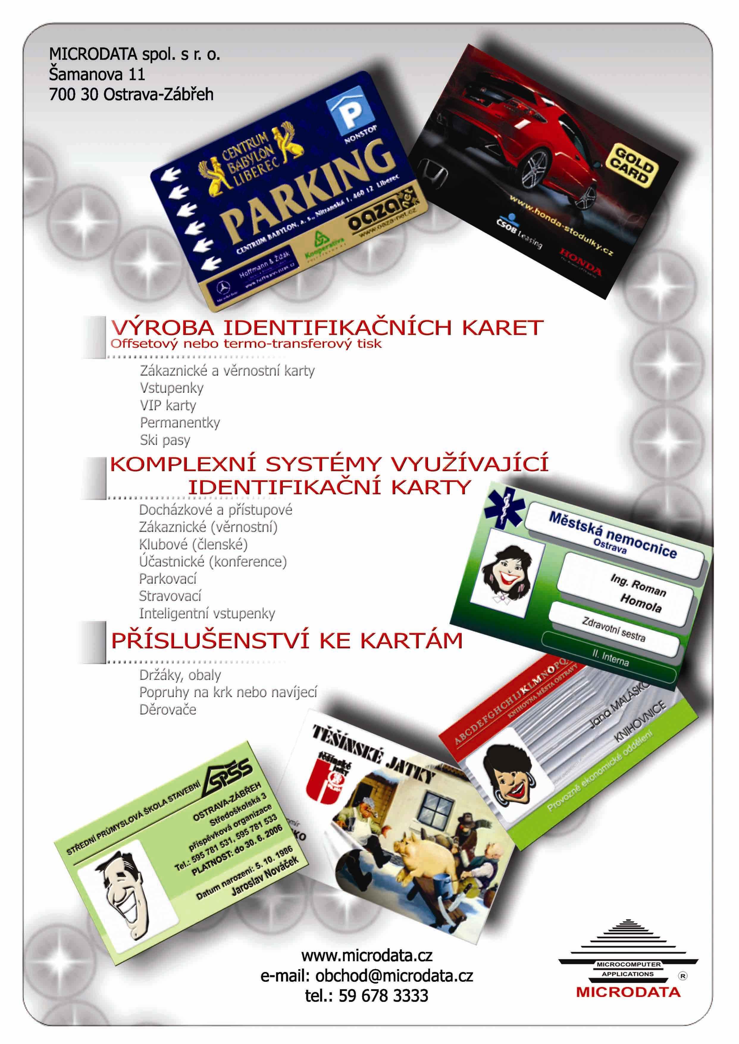 Výroba plastových karet