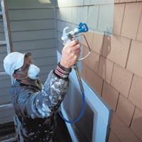 Stříkací technika pro malíře a stavebnictví, stříkané stěrky, fasády, izolace, bitumeny