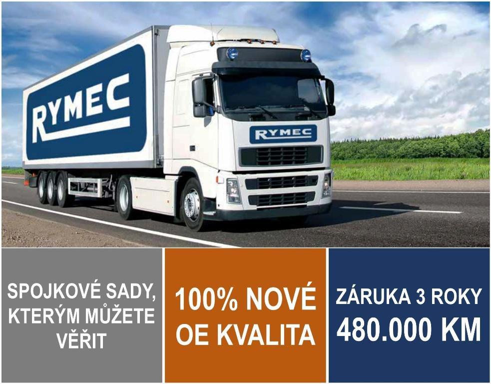 Testované spojkové sady Rymec pro nákladní vozidla v OE kvalitě