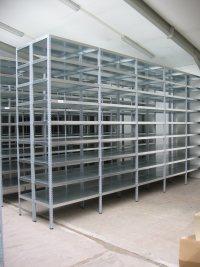 Kovové skladové archivní policové regály Libišany