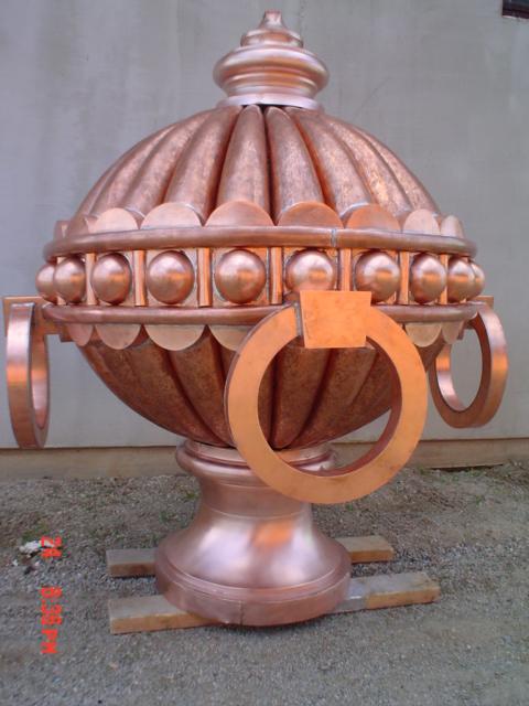 ozdobné klempířské výrobky
