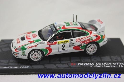kovový model rally vozu Toyota