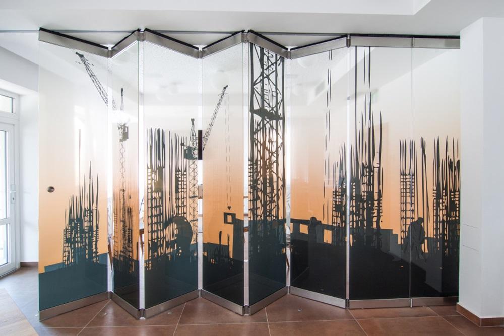 Skleněné stěny, příčky-vizuální lehkost do kanceláří a bytových prostor