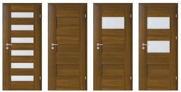 Vnitřní interiérové dveře a zárubně z různých materiálů
