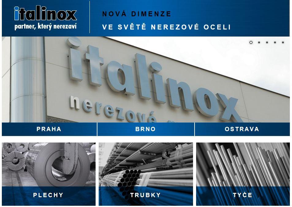 Servicezentrum ITALINOX Trennlinien, Umwickelmachinen, Bürstmaschinen, Edelstahlbearbeitung, Tschechien