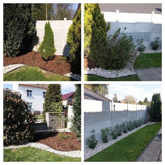 Výsadba zahrad, průmyslových areálů, hrobů - realizace okrasné zahrady