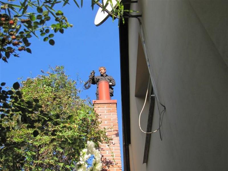 Odstranění sazí z komína Ostrava, Karviná