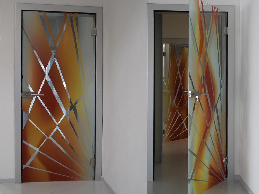 celoskleněné dveře s vizuálním efektem Image Glass Double vision