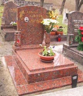 Výroba kamenných hřbitovních pomníků a hrobů
