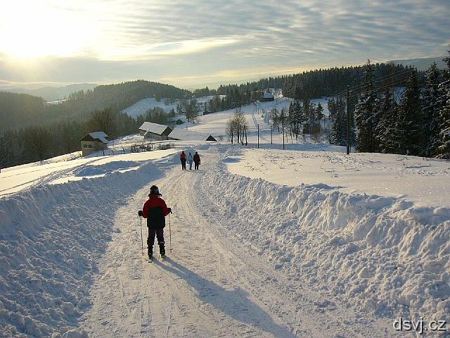 Zimní lyžování v Beskydech