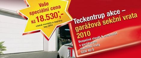 Akce garážová sekční vrata Teckentrup Olomouc