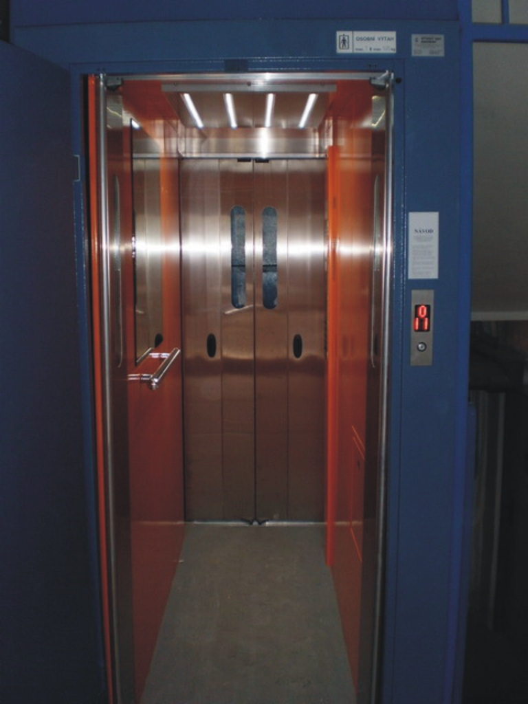 Výměna a rekonstrukce výtahů, výtahy Ostrava, průmyslové plošiny