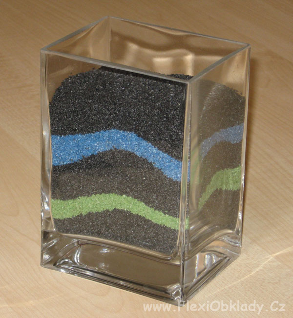 Barevný křemičitý písek zrnitost 1-2 mm