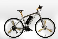 modrní e-bike MTB